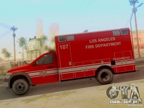 Dodge Ram 1500 LAFD Paramedic para GTA San Andreas esquerda vista