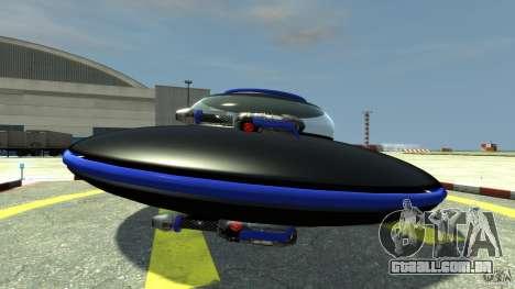 UFO neon ufo blue para GTA 4 esquerda vista