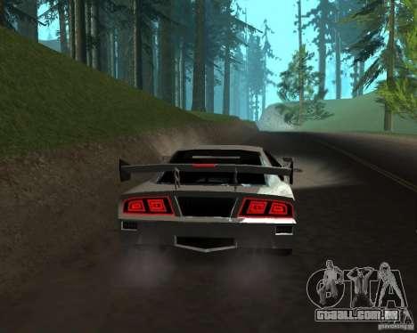 Azik Turismo para GTA San Andreas traseira esquerda vista