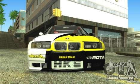 BMW E36 Urban Perfomance Garage para GTA San Andreas vista traseira