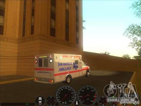 Ford E-350 Ambulance 2 para GTA San Andreas traseira esquerda vista