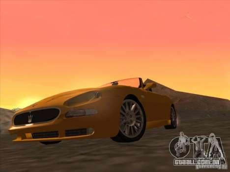 Maserati Spyder Cambiocorsa para GTA San Andreas esquerda vista