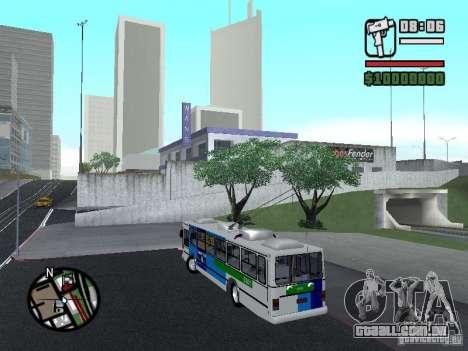 Cobrasma Monobloco Patrol II Trolerbus para GTA San Andreas esquerda vista