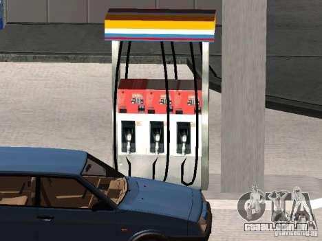 Posto de gasolina Lukoil para GTA San Andreas por diante tela