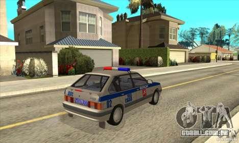 DPS DE ВАЗ 2114 para GTA San Andreas vista direita