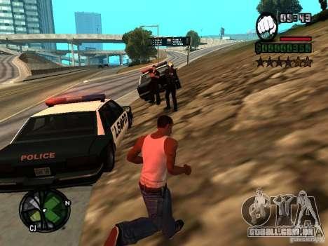 HUD e fonte v 1.0 para GTA San Andreas segunda tela