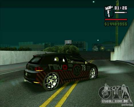 Volkswagen Scirocco 2008 para GTA San Andreas esquerda vista
