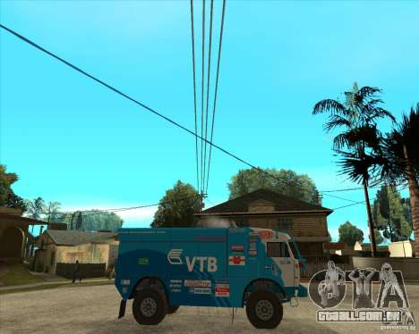 KAMAZ 4911 (2007) Rally Raid version para GTA San Andreas