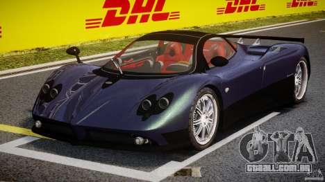 Pagani Zonda F para GTA 4 vista de volta