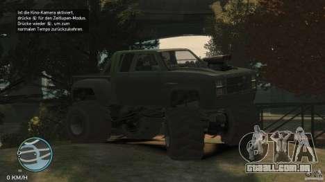 Bobcat megatruck 1.0 para GTA 4 traseira esquerda vista