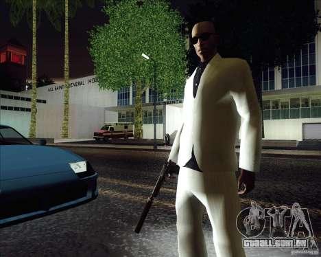 Traje branco para GTA San Andreas segunda tela