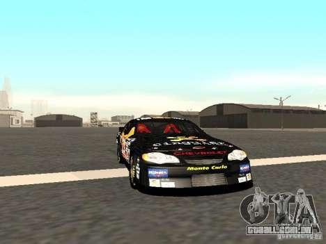 Chevrolet Monte Carlo Nascar CINGULAR Nr.31 para GTA San Andreas esquerda vista