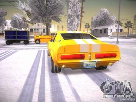 Shelby GT500 Eleanor para GTA San Andreas traseira esquerda vista