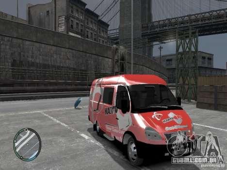 Gazela 2705 Telkomsel Van para GTA 4 vista direita