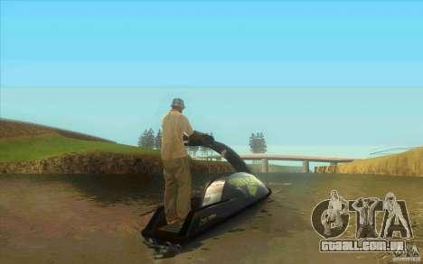 Thruster 87 para GTA San Andreas traseira esquerda vista