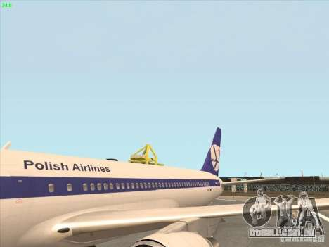 Boeing 767-300 LOT Polish Airlines para GTA San Andreas vista direita