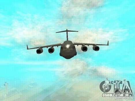 C-17 Globemaster para GTA San Andreas esquerda vista