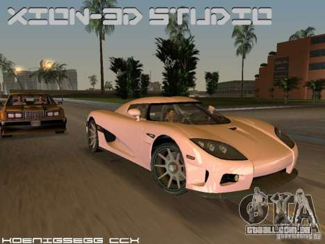 Koenigsegg CCX para GTA Vice City vista traseira