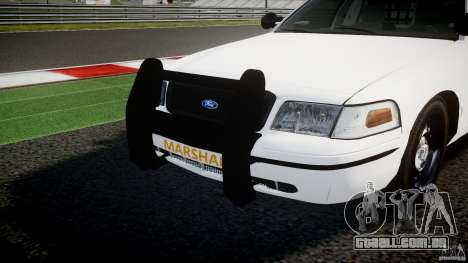 Ford Crown Victoria US Marshal [ELS] para GTA 4 vista inferior