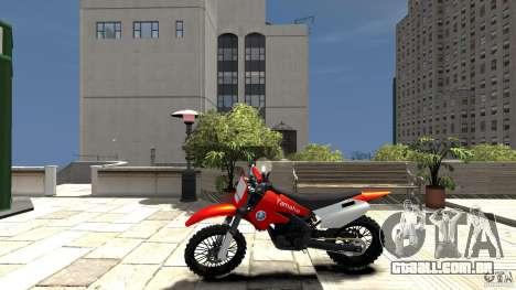 Yamaha Cross para GTA 4 esquerda vista