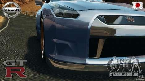 Nissan GT-R 35 rEACT v1.0 para GTA 4 vista de volta