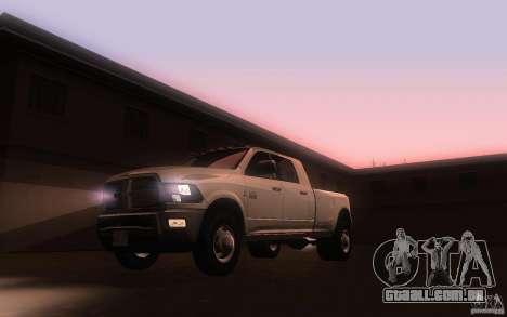 Dodge Ram 3500 Laramie 2010 para GTA San Andreas esquerda vista