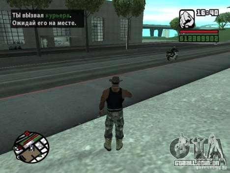 Gun Seller RUS para GTA San Andreas por diante tela