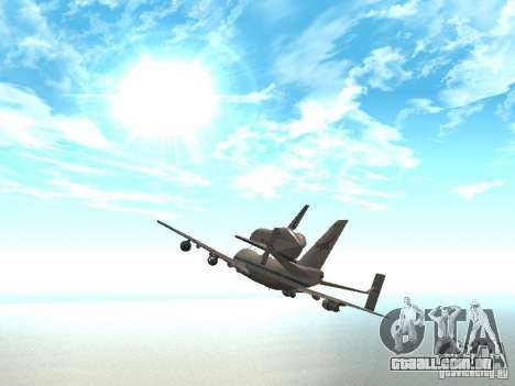 Boeing 747-100 Shuttle Carrier Aircraft para GTA San Andreas vista direita