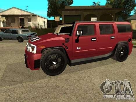 Hummer H2 Tuning para GTA San Andreas esquerda vista