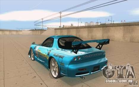Mazda RX-7 911 Trust para GTA San Andreas traseira esquerda vista
