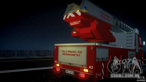 Scania Fire Ladder v1.1 Emerglights blue [ELS] para GTA 4 motor