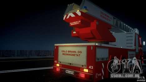 Scania Fire Ladder v1.1 Emerglights blue [ELS] para GTA 4 motor