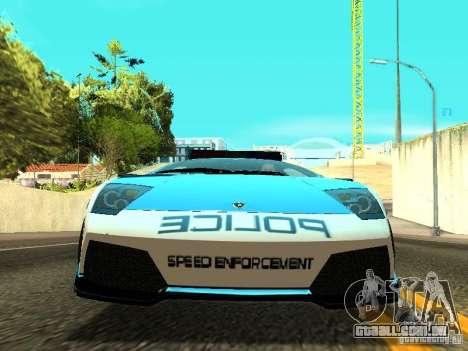 Lamborghini Murcielago LP640 Police V1.0 para GTA San Andreas vista interior