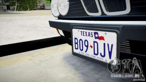 BMW 535 E28 para GTA 4 vista de volta