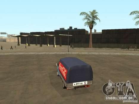 3302 gazela v. 2.0 para GTA San Andreas esquerda vista
