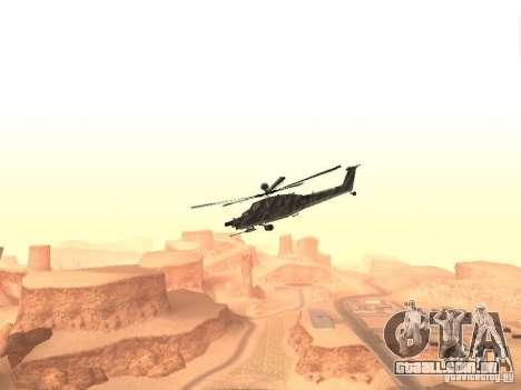 MI 28 Havok para GTA San Andreas esquerda vista