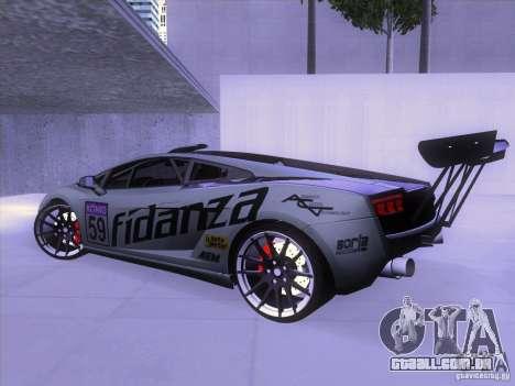 Lamborghini Gallardo Racing Street para GTA San Andreas traseira esquerda vista