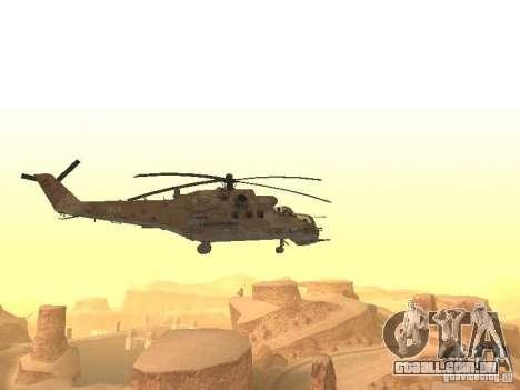 Mi-24p Desert Camo para GTA San Andreas vista direita