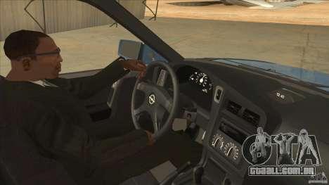 Opel Astra F Tuning para GTA San Andreas vista interior