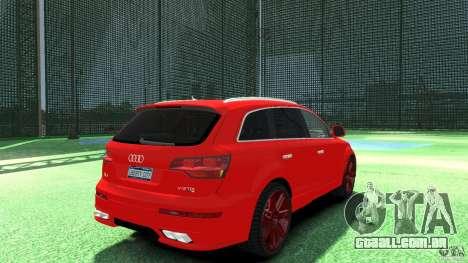 Audi Q7 v12 TDI para GTA 4 traseira esquerda vista