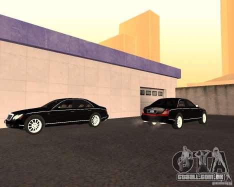 Maybach 57S para GTA San Andreas vista interior