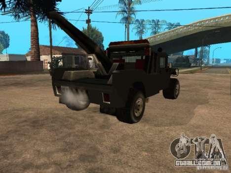 Caminhão HUMMER H1 para GTA San Andreas traseira esquerda vista