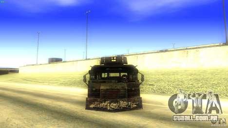 Frontline - MilBus para GTA San Andreas vista direita