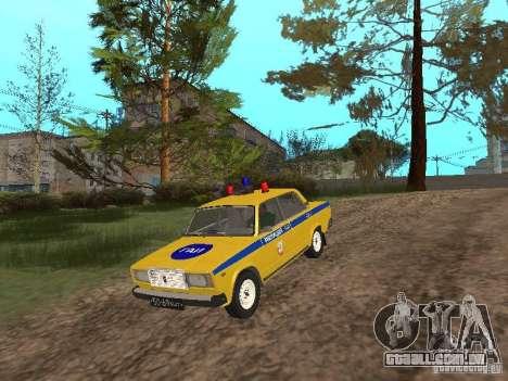 INSPEÇÃO DE CARRO VAZ 2107 para GTA San Andreas