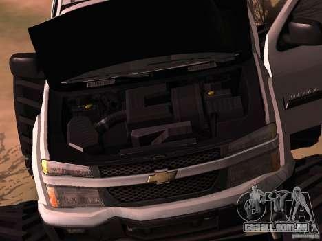 Chevrolet Colorado Monster para GTA San Andreas traseira esquerda vista