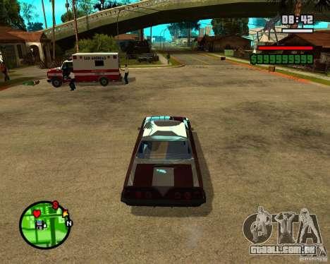 Mercury Mascarpone para GTA San Andreas vista traseira