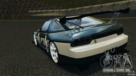 Nissan 240SX Time Attack para GTA 4 traseira esquerda vista