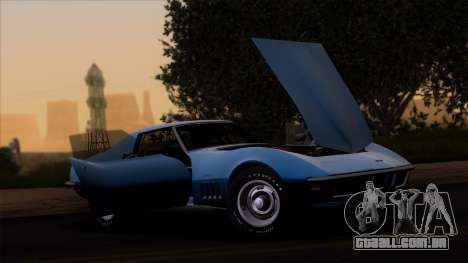 Chevrolet Corvette C3 Stingray T-Top 1969 v1.1 para GTA San Andreas traseira esquerda vista