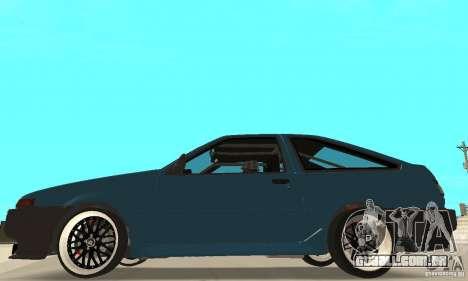 Toyota Sprinter para GTA San Andreas traseira esquerda vista