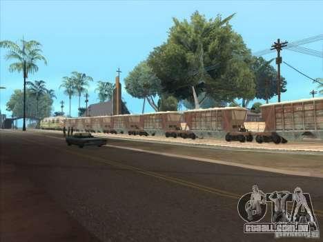 Vagões para GTA San Andreas traseira esquerda vista